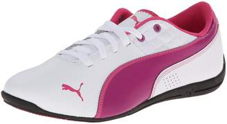 Puma Drift Cat 6 L Jr Athletic Shoe, White/Vivid Viola/Be