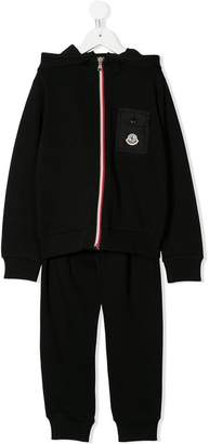 Moncler full-zipped hoodie and track pants set
