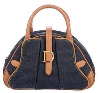 Christian Dior Denim Saddle Bowler Bag