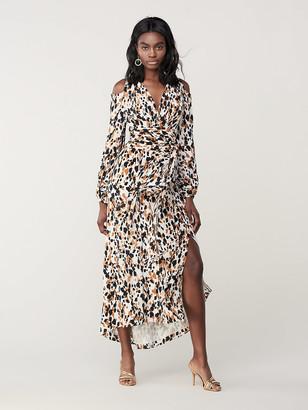 Diane von Furstenberg Lyra Silk Crepe de Chine Maxi Wrap Dress