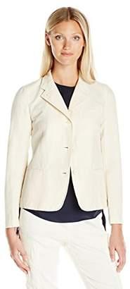 Vince Women's Shrunken Cupro Linen Blazer