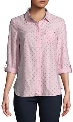 Tommy Hilfiger Daisy Dot Cotton Button-Down Shirt