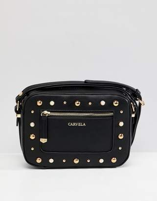 Carvela pearl stud cross body bag