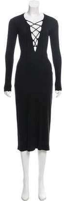 Reformation Rib Knit Midi Dress