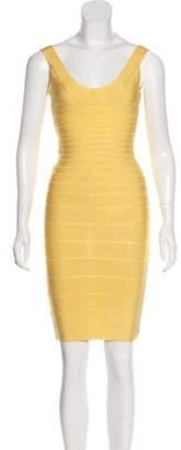 Herve Leger Sydney Bandage Dress Yellow Sydney Bandage Dress