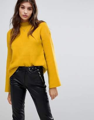 Vero Moda High Neck Flared Sleeve Sweater