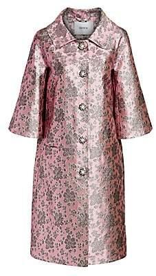 Erdem Women's Sorayah Metallic Floral Coat