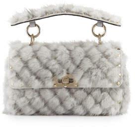 Valentino Spike.It Small Embellished Mink Shoulder Bag