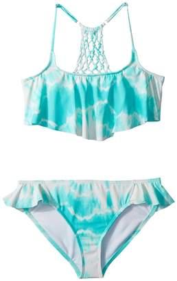 Billabong Kids Peace 4 U Flutter Swim Set Girl's Swimwear Sets
