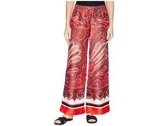 Lauren Ralph Lauren Silky Twill Printed Wide Leg Pants Women's Casual Pants