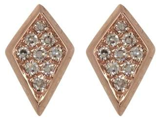 Ef Collection 14K Rose Gold Diamond Pave Stud Earrings - 0.12 ctw