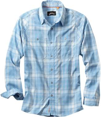 Orvis Tech Chambray Plaid Long-Sleeve Work Shirt - Men's