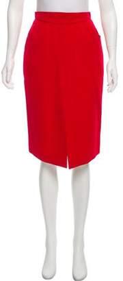 Thierry Mugler Wool Knee-Length Skirt w/ Tags