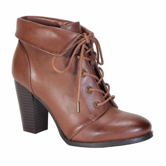 Bamboo Cheek Lace-Up Booties $60 thestylecure.com
