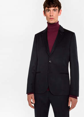 Paul Smith Men's Tailored-Fit Dark Navy Unlined Cashmere Blazer