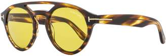 Tom Ford Clint FT 537 048E Havana / Yellow Sunglasses