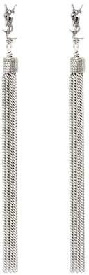 Saint Laurent LouLou chain tassel earrings