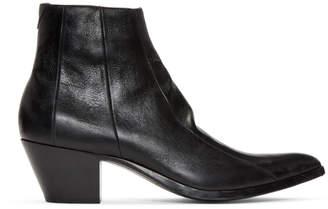 Saint Laurent Black Finn Boots