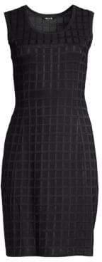 Misook Knit Grid Sheath Dress