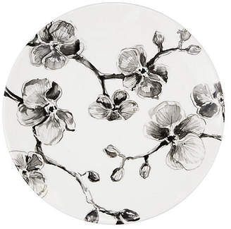 MADHOUSE by Michael Aram Orchid Melamine Dinner Plate - Black/White