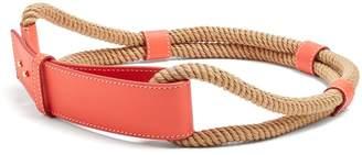 Roksanda Leather and rope waist belt