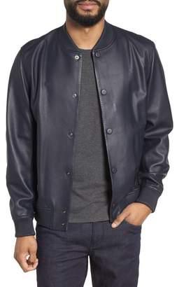 Theory Hubert Varsity Leather Bomber Jacket