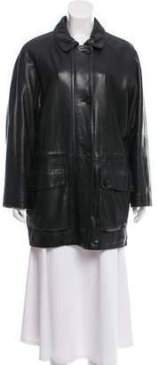 Loro Piana Leather Casual Coat