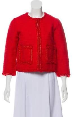 Laurence Dolige Frayed-Trimmed Lightweight Jacket