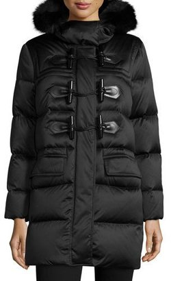 Burberry Brit Altberry Duffle Puffer Coat with Fur Hood $1,695 thestylecure.com