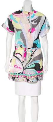 Emilio Pucci Printed Short Sleeve Tunic