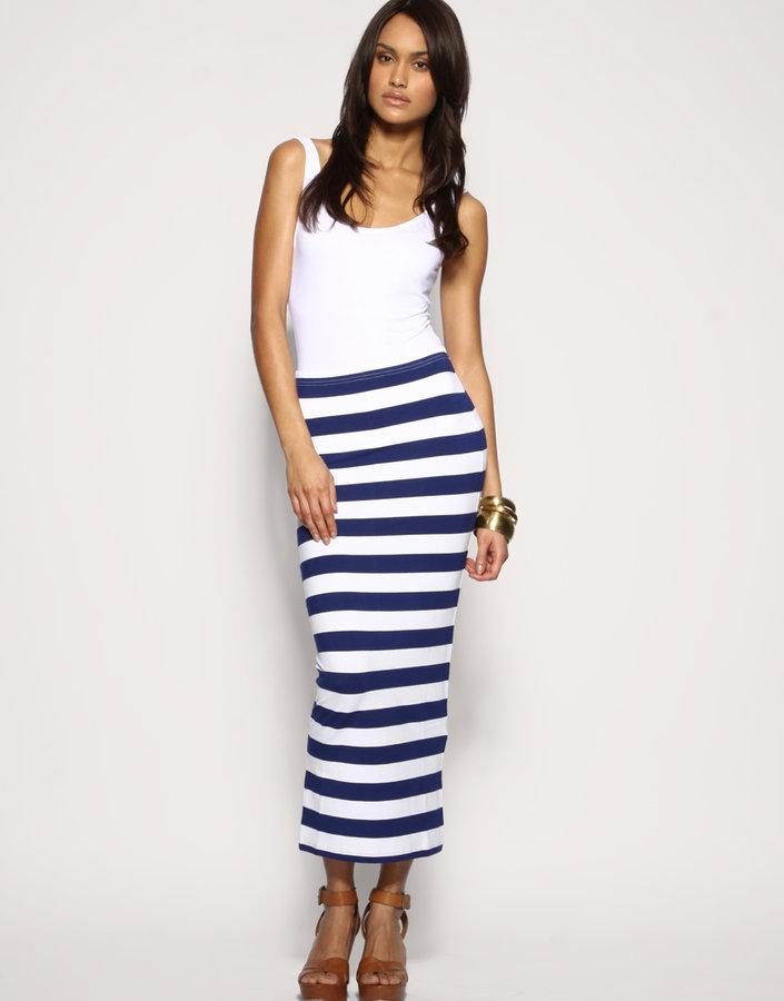 ASOS Stripe Jersey Maxi Skirt
