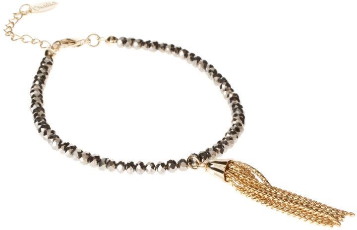 Orelia Gold Tassel Friendship Bracelet