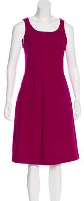 Armani Collezioni Sleeveless Virgin Wool Dress