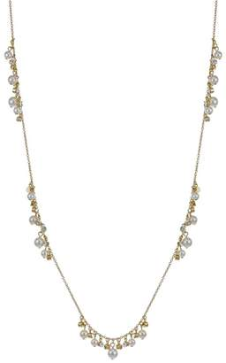 J by Jasper Conran Designer Gold Crystal And Pearl Necklace And Earring Set