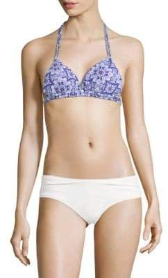 Rachel Roy Abstract-Print Bikini Top