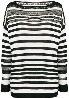 Ermanno Scervino striped sheer detail sweater