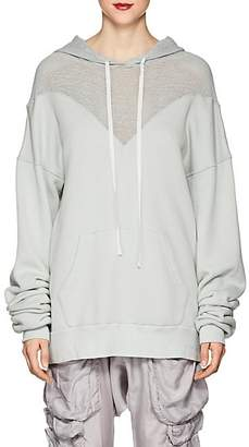 Taverniti So Ben Unravel Project BEN UNRAVEL PROJECT WOMEN'S HYBRID COTTON TERRY HOODIE