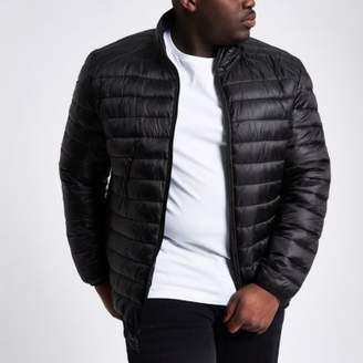 River Island Big and Tall black quilted jacket