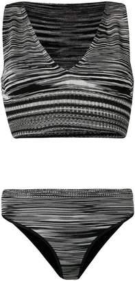 Missoni Mare striped knitted bikini set