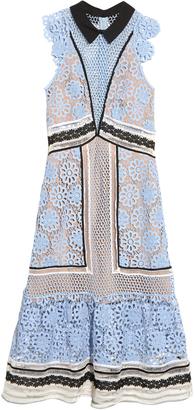 SELF-PORTRAIT Floral guipure-lace panelled midi dress $580 thestylecure.com
