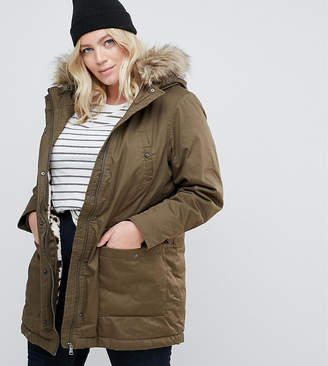 Junarose Parka With Fux Fur Trim