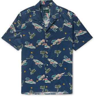 Gitman Brothers Camp-Collar Printed Cotton-Blend Shirt