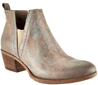 Miz Mooz Leather Ankle Booties with Goring -Dalia