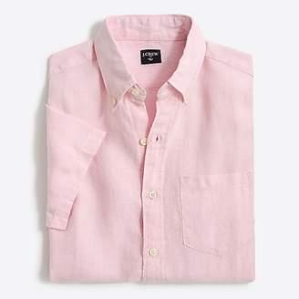 J.Crew Mercantile Slim-fit short-sleeve linen shirt