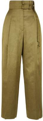 Sandro Cropped Wide Leg Trousers