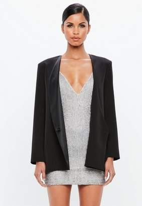 Missguided Black Loose Blazer