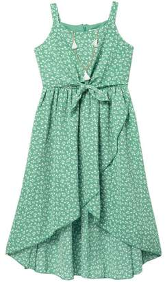 Beautees Strappy Front Tie Maxi Dress (Big Girls)