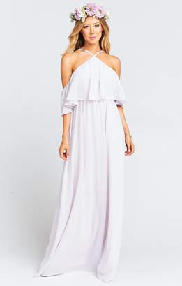 Show Me Your Mumu Rebecca Ruffle Maxi Dress ~ Light Lavender Chiffon