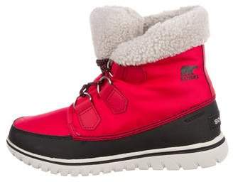 Sorel Canvas Round-Toe Ankle Boots