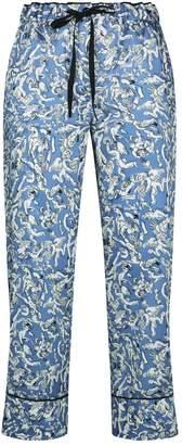 Victoria Victoria Beckham Victoria, Victoria Beckham Grecian Motif Cropped Trousers